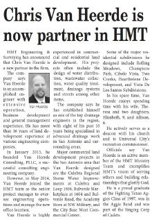 Chris Van Heerde is now partner in HMT